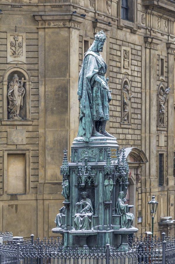 Skulptur av den Charles droppen arkivbild