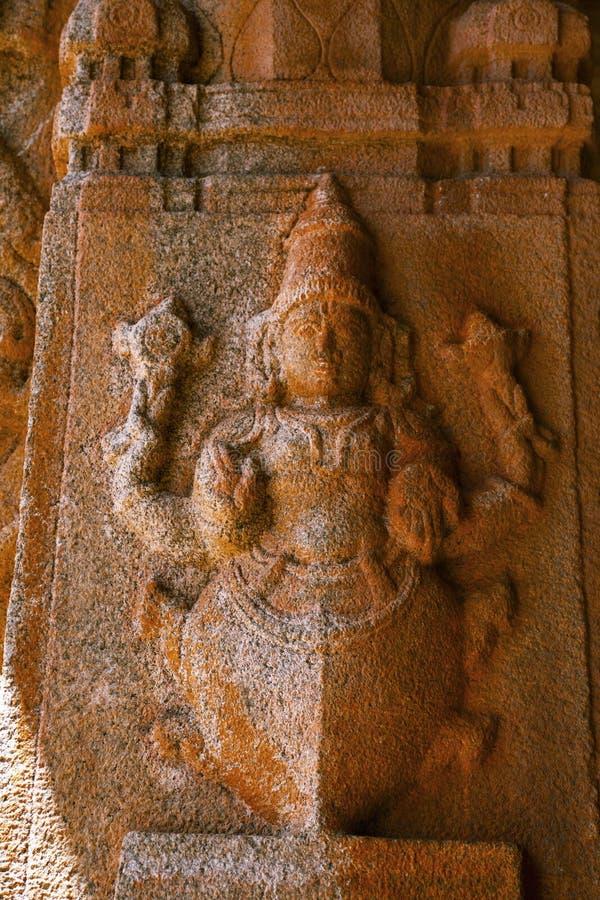 Skulptur av den Kurma avataren på den Vittala templet, Hampi, Karnataka, Indien arkivfoton