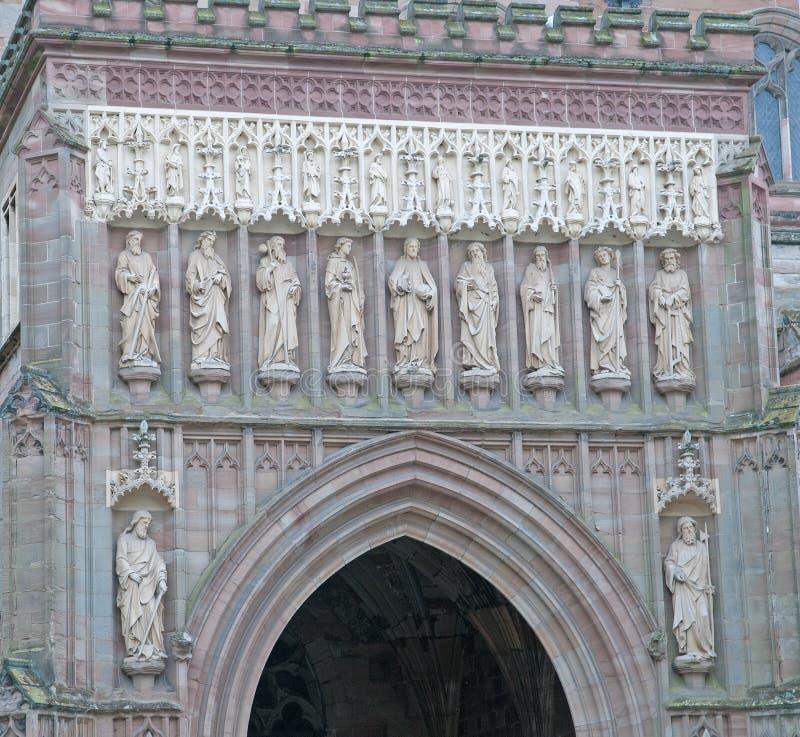 Skulptur av domkyrkan royaltyfria foton
