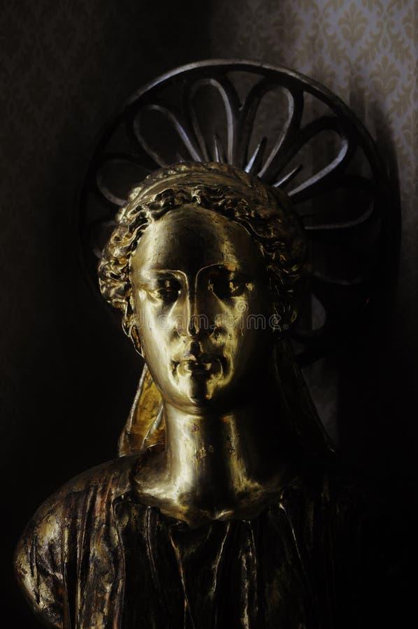 Skulptur av en ängel royaltyfri foto