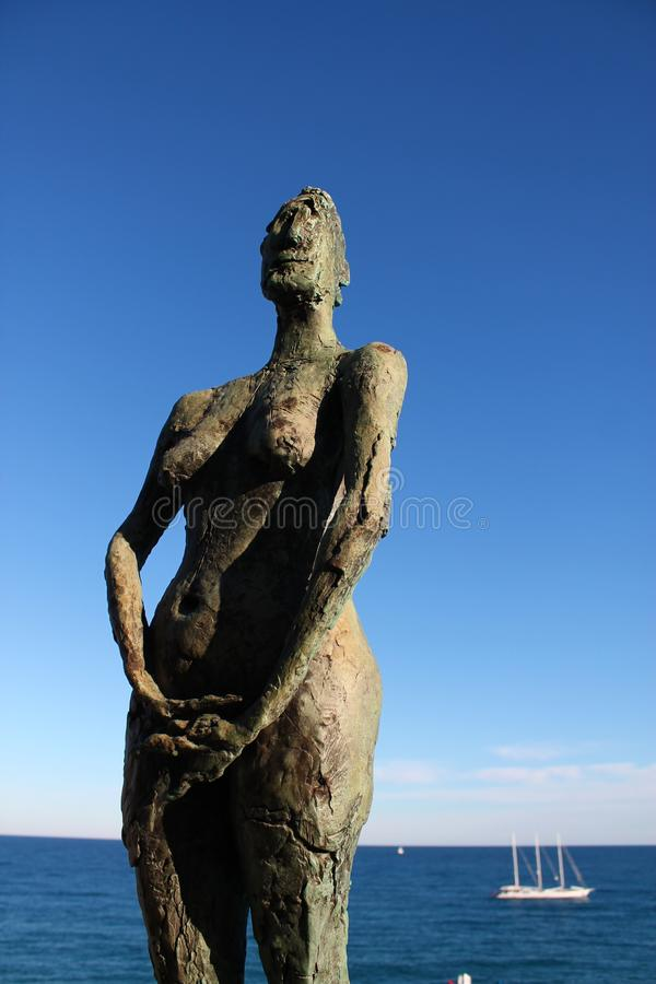 Skulptur av en kvinna fotografering för bildbyråer