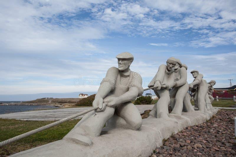 Skulptur av fiskare royaltyfri foto