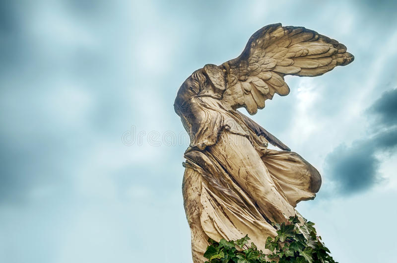 Skulptur av Nike royaltyfri foto