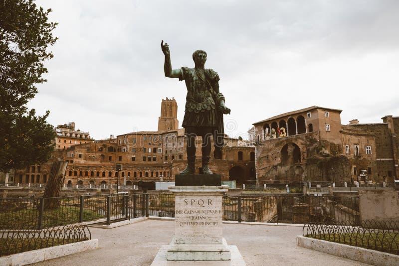 Skulptur av Roman Emperor Augustus Caesar (Caesari Nervae) arkivfoto