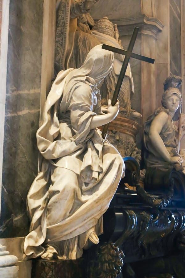 Skulptur av St Peter Basilica, Vaticanen arkivfoto