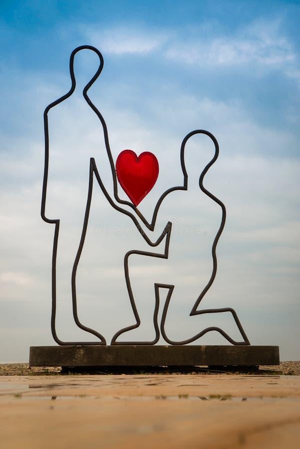 Skulptur av vänner arkivbilder