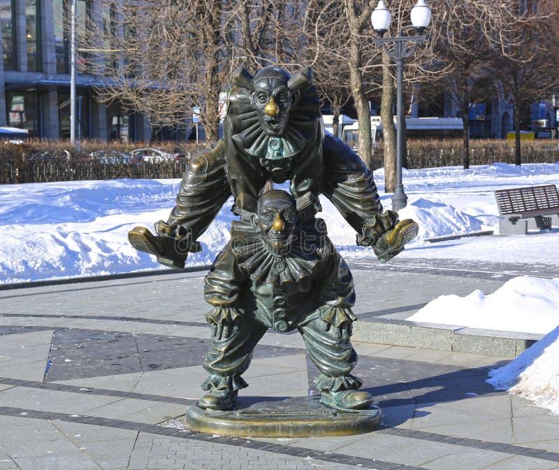 Skulptur-Clown stockfoto