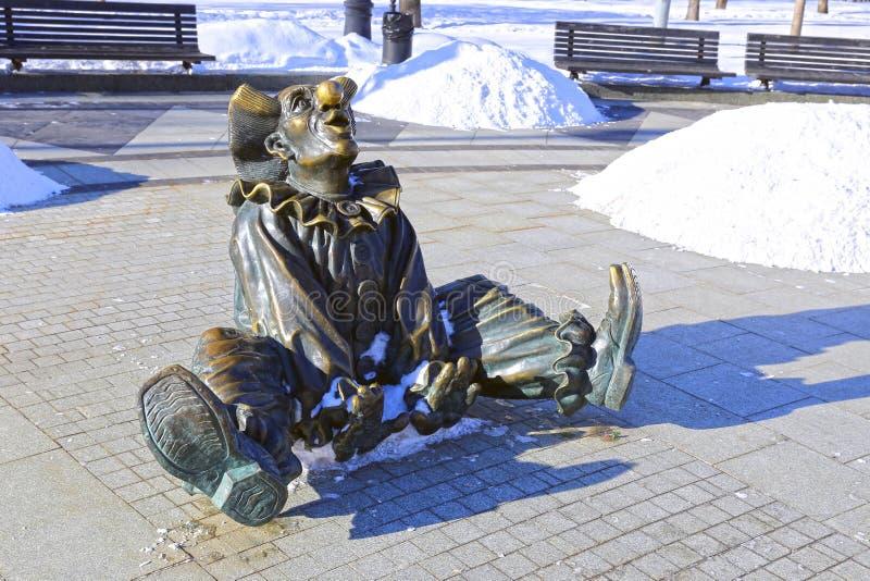 Skulptur-Clown lizenzfreies stockfoto