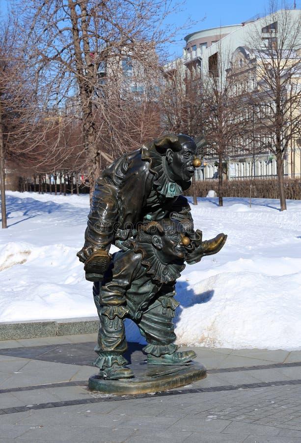 Skulptur-Clown stockbilder