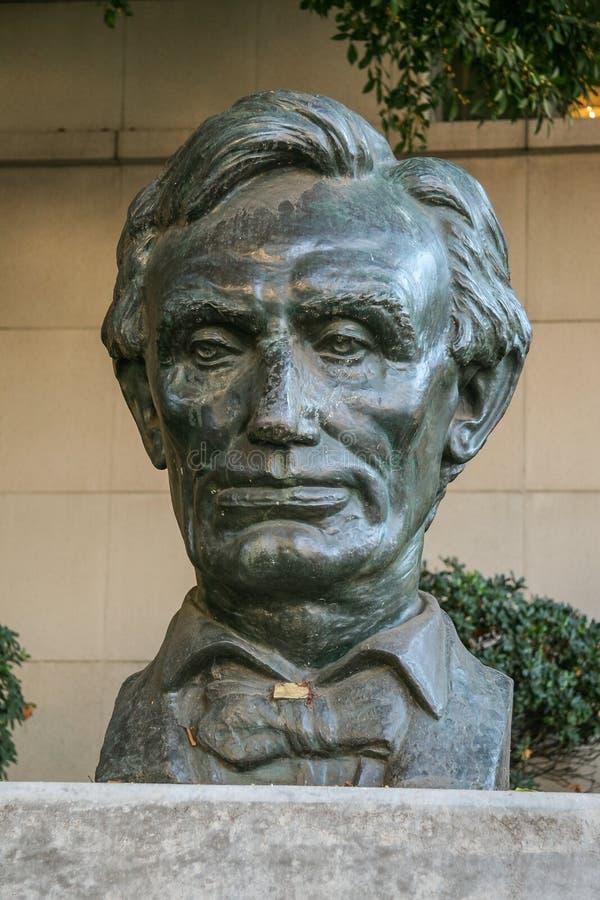 Skulptur des Präsidenten der Vereinigten Staaten Abraham Lincoln lizenzfreies stockbild
