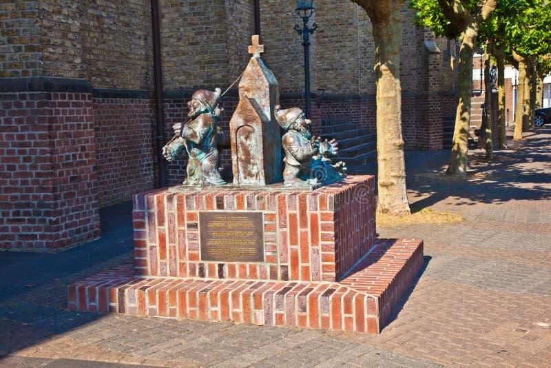 Skulptur des Sekes Maenekes stockfotografie