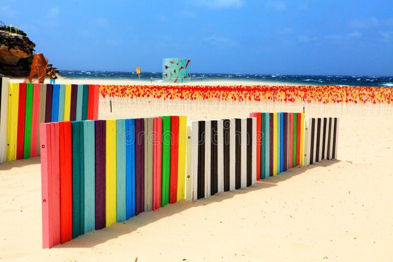 Skulptur durch die Seeausstellung bei Bondi Australien lizenzfreies stockbild
