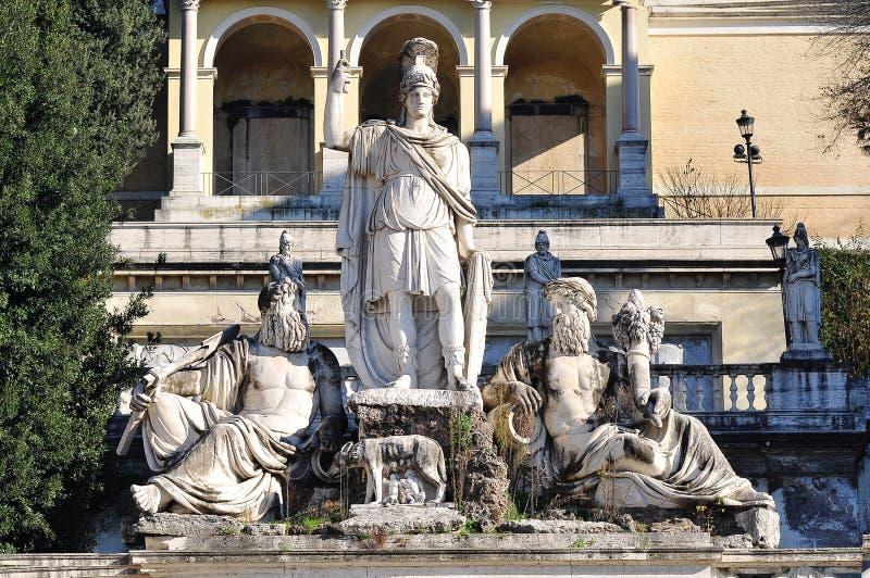 Skulptur för Archimedes `-bröst i Rome, fotografering för bildbyråer