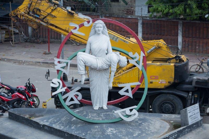 Skulptur för Bangladesh moderlangue royaltyfri foto