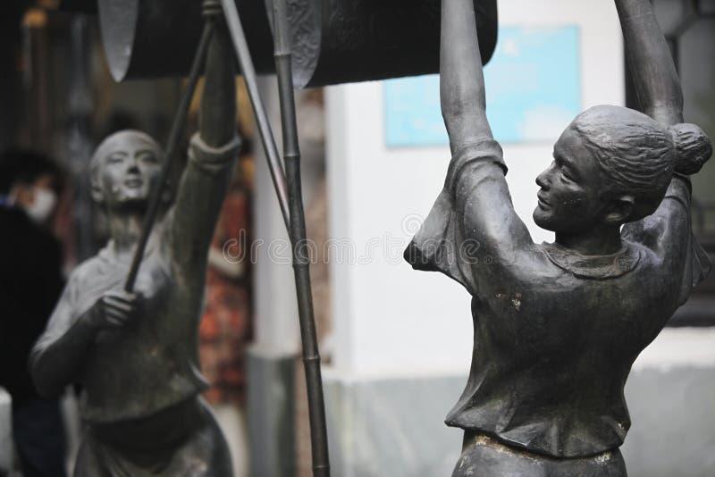 Skulptur för kinesisk kommunist av Hangzhou royaltyfri fotografi