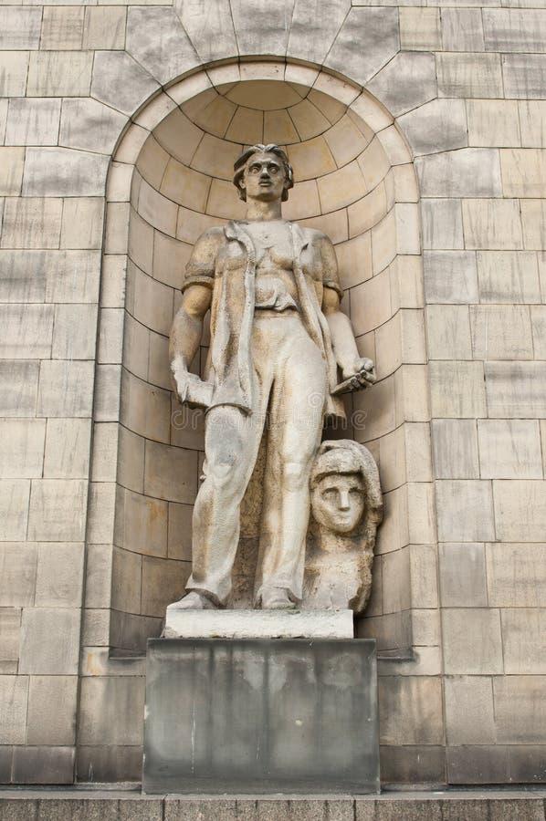Skulptur från slotten av kulturen royaltyfria bilder