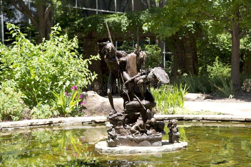 Skulptur i den nationella cowboyen & det västra arvmuseet Oklahoma arkivbilder