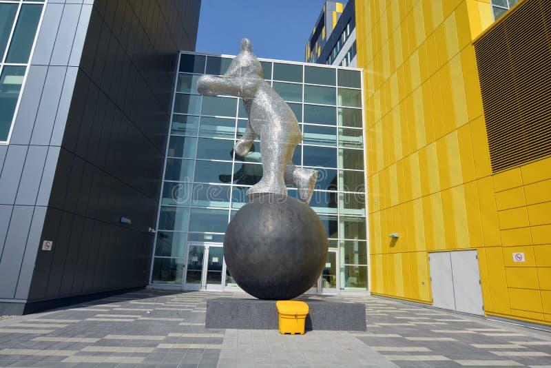 Skulptur I'am här! royaltyfria foton