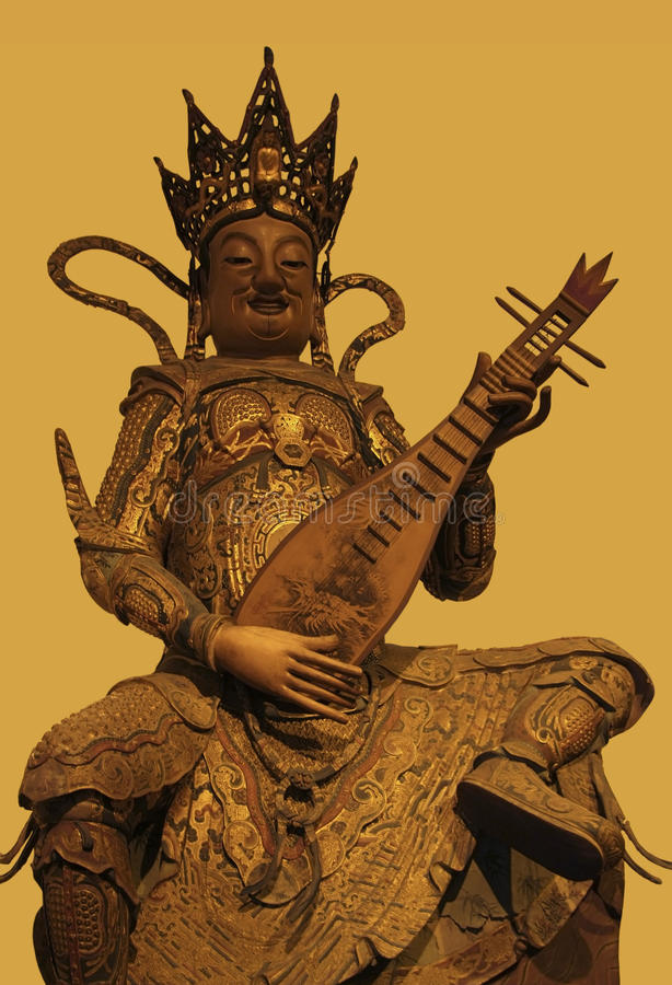Skulptur i Jade Buddha Temple royaltyfria bilder