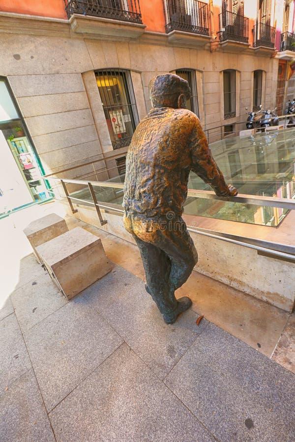 Skulptur i Madrid, Spanien royaltyfria bilder