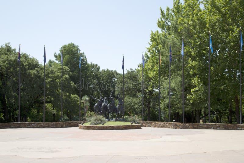Skulptur i nationell cowboy & västra arvmuseum arkivfoto