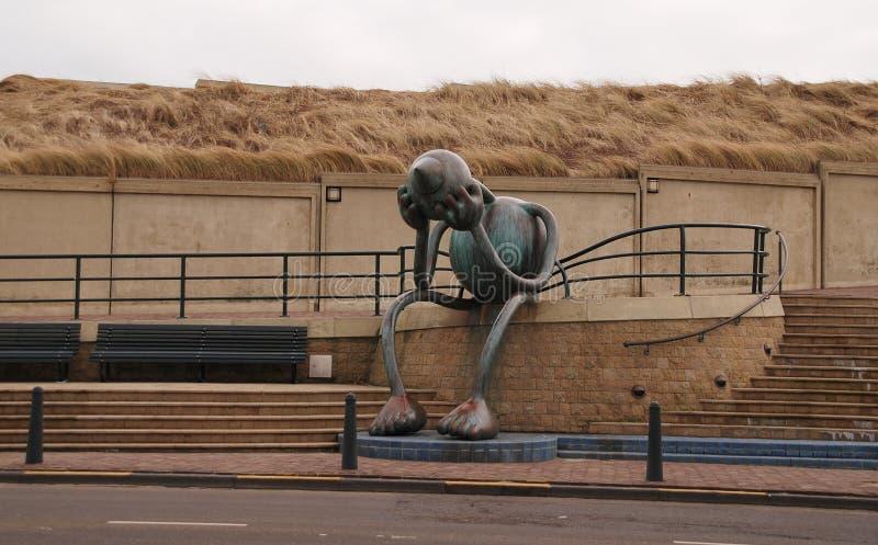 Skulptur i Scheveningen, Netherland arkivfoton