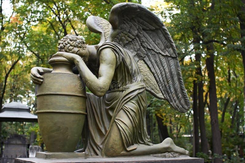 Skulptur im Donscoy Kloster stockfoto