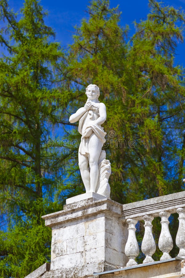 Skulptur im Museum-Zustand Arkhangelskoye - Moskau Russland stockfotografie