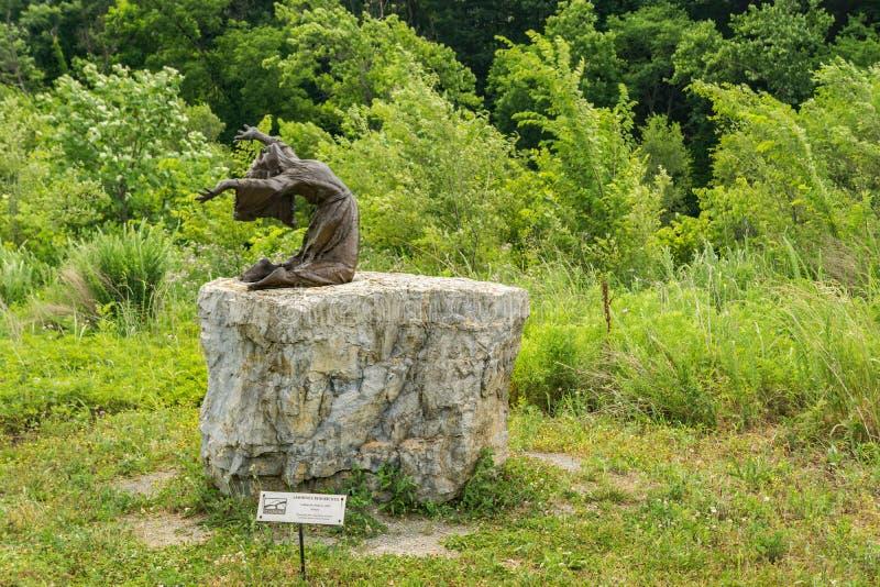 """""""""""Skulptur kalla för överheten"""" arkivbild"""