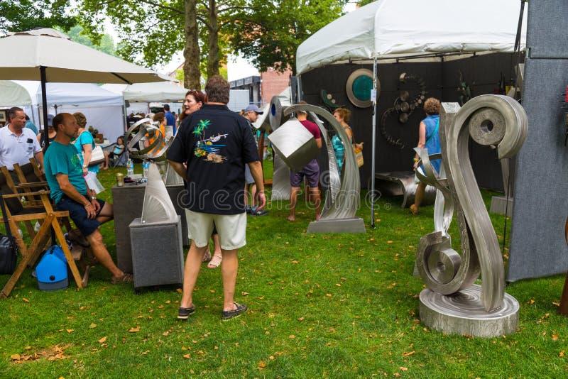 Skulptur-Kunst an der Show stockbilder