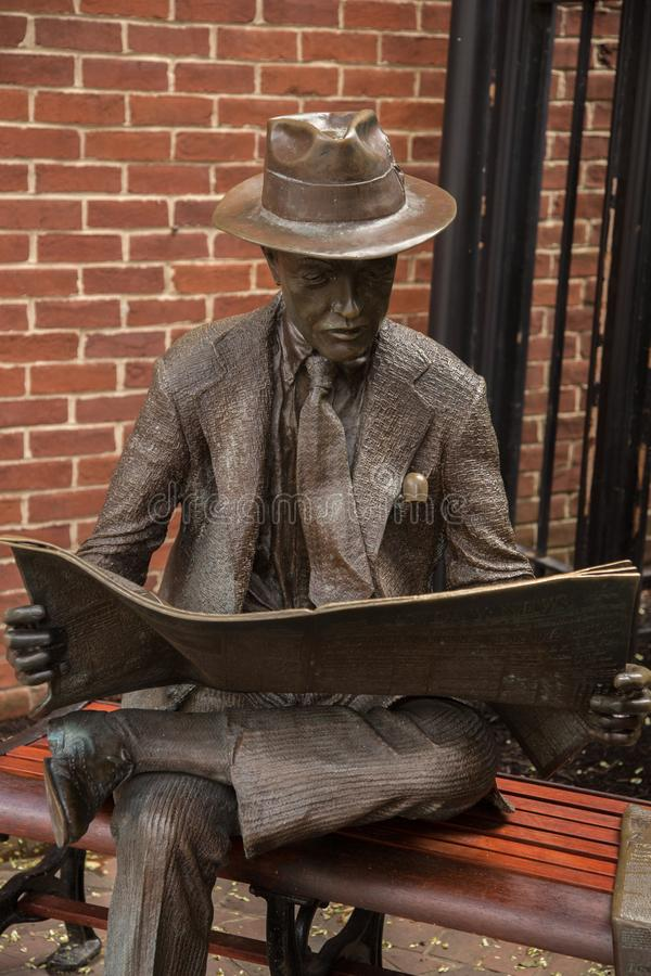 Skulptur in Lancaster-Stadt, Pennsylvania, lizenzfreie stockfotografie