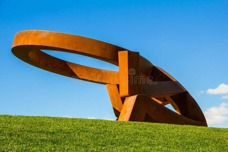 Skulptur Mississauga-Hügel stockfotos