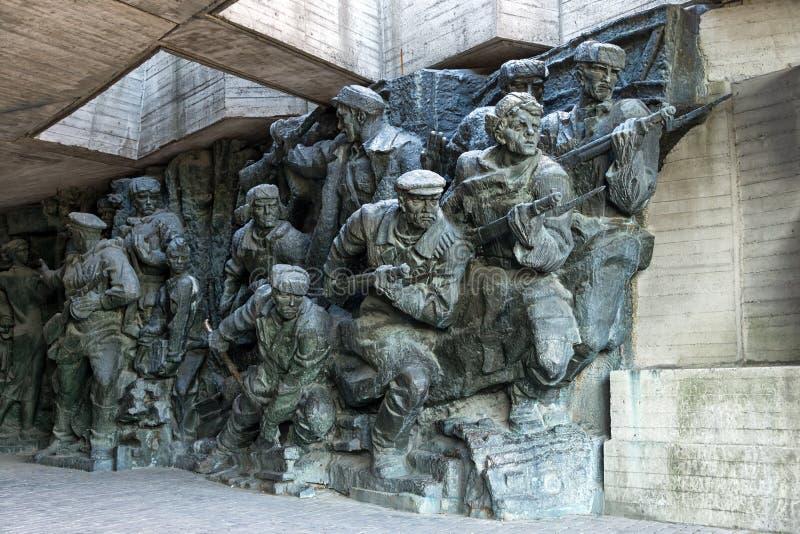 Skulptur nationellt museum av historien det stora patriotiska kriget royaltyfri foto