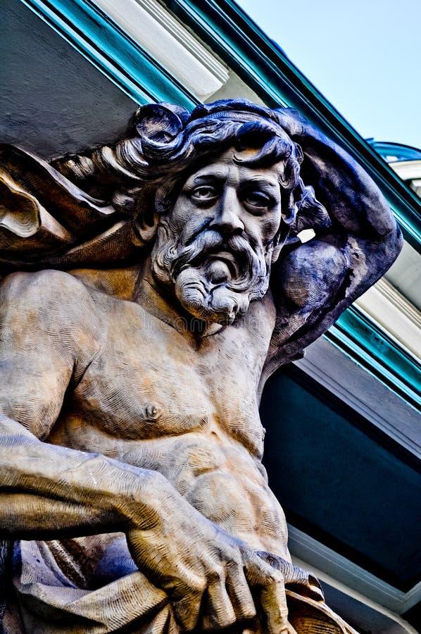 Skulptur Neptun arkivbild