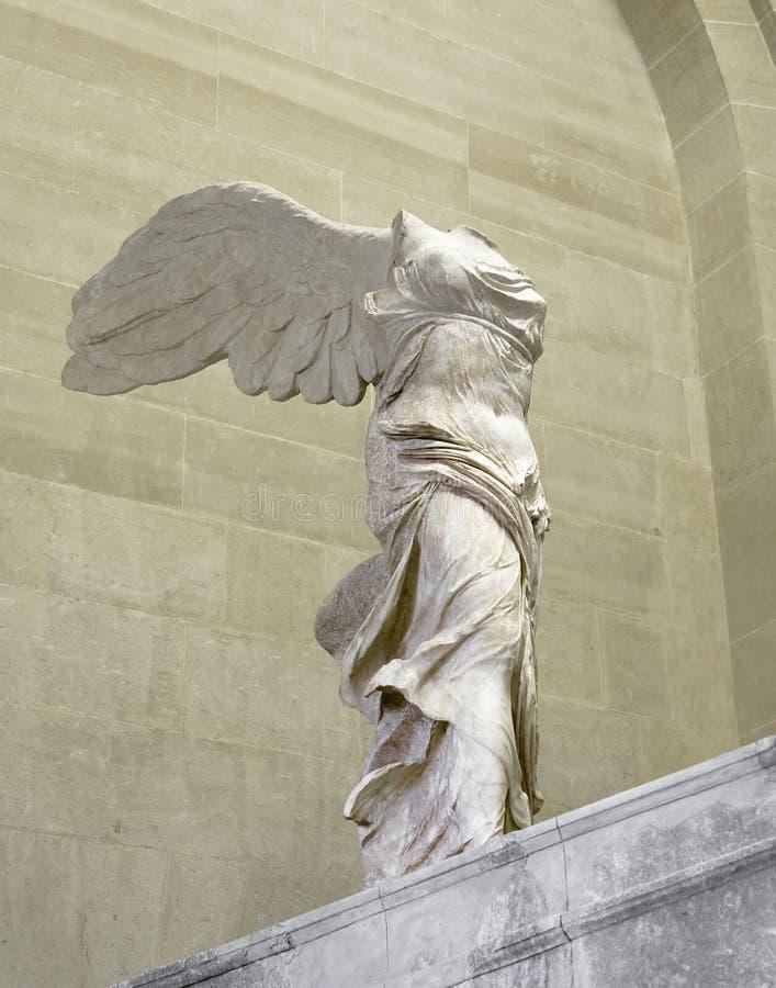 Skulptur Nike av Samothrace royaltyfri foto