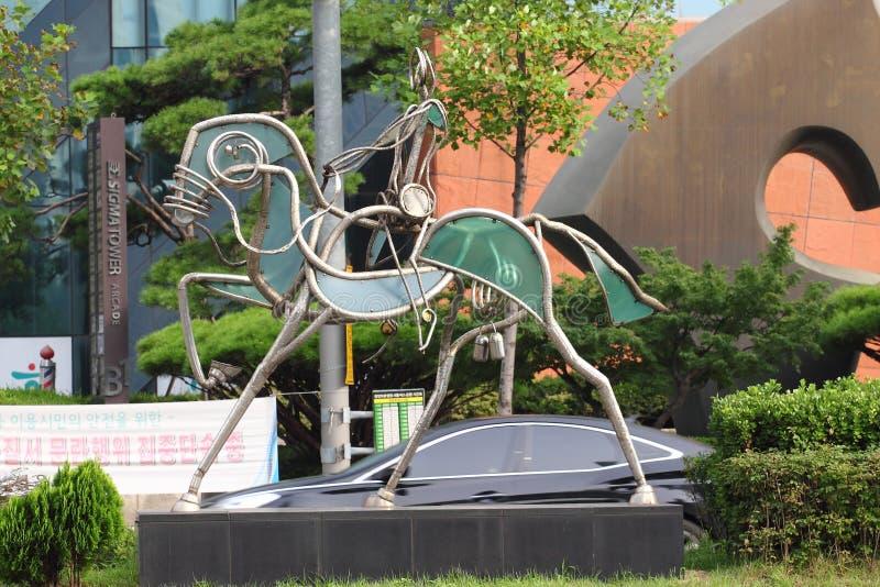 Skulptur på OS-ro i Seoul arkivbilder
