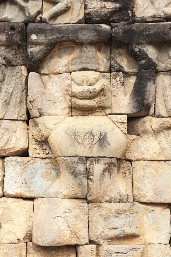 Skulptur på spetälskkonungen Terrace royaltyfri bild