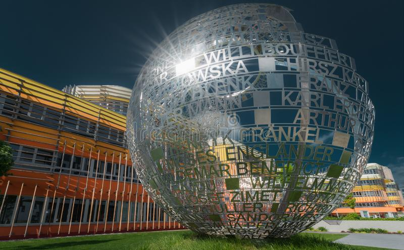 Skulptur-Universität von Wirtschaft in Wien lizenzfreie stockfotos