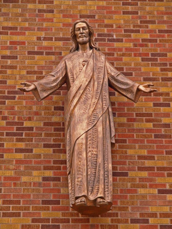 Skulptur von Jesus stockfotos