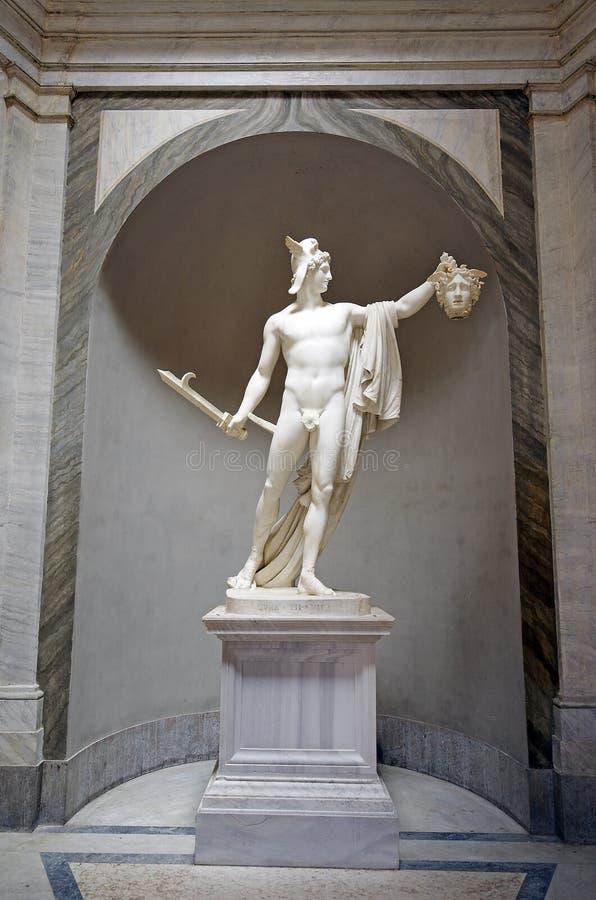 Skulptur von Perseus Kopf Gorgon Medusas halten stockfoto