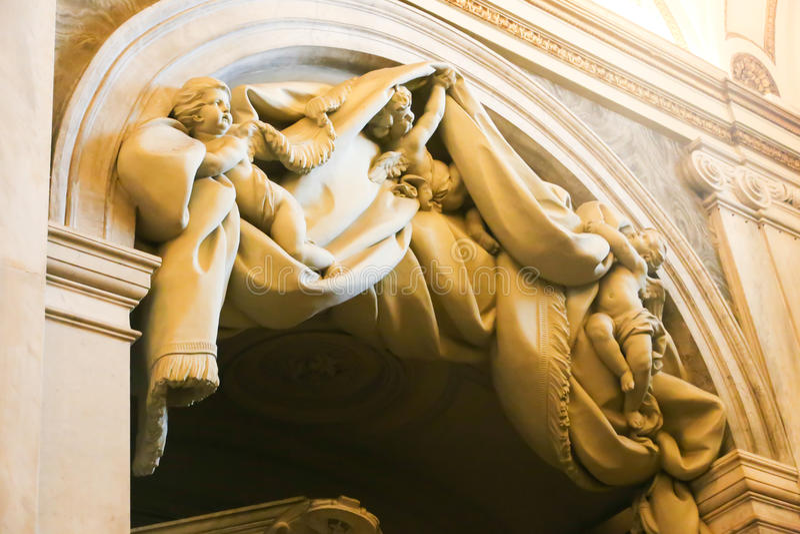 Skulptur von St. Peter Basilica, Vatikan stockbilder