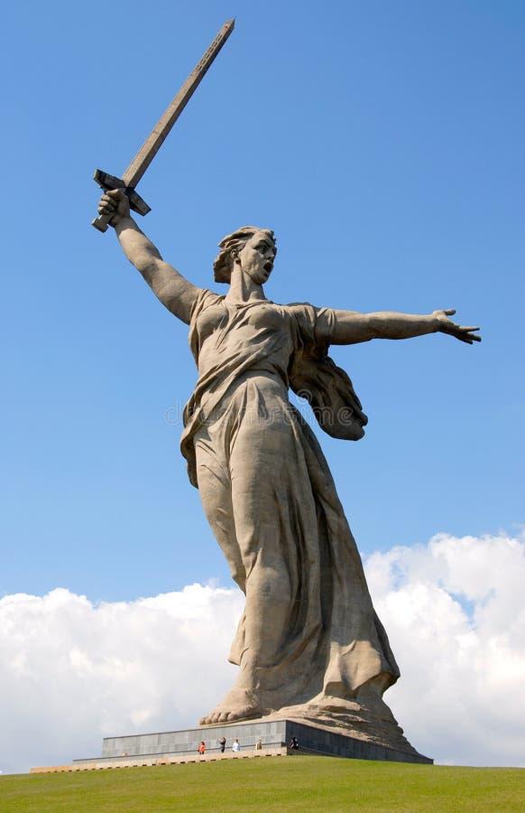 Skulptur zitieren innen von Wolgagrad lizenzfreies stockfoto