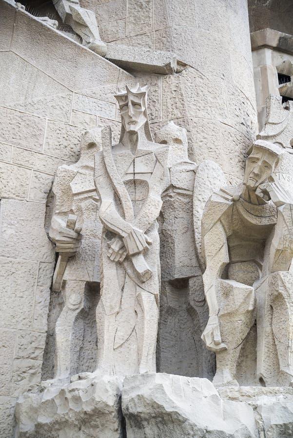 Skulptural sammansättning av den vita stenen royaltyfria bilder