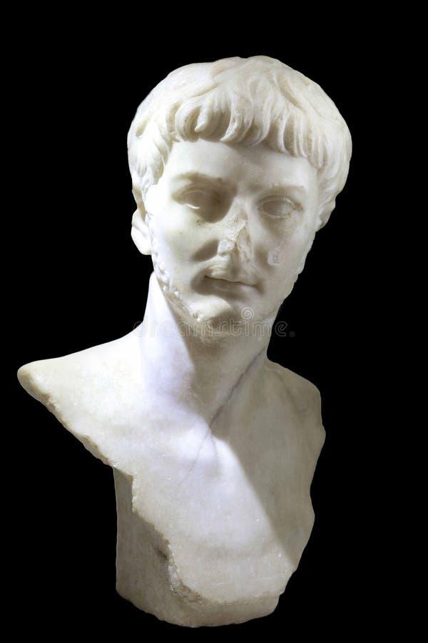 Skulpturbyst av den romerska kejsaren Nero arkivbilder