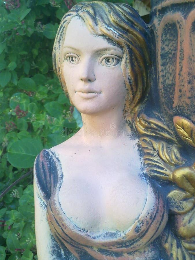 Skulpture w ranków sunbeams, Kamenets-Podolskiy, Ukraina fotografia stock