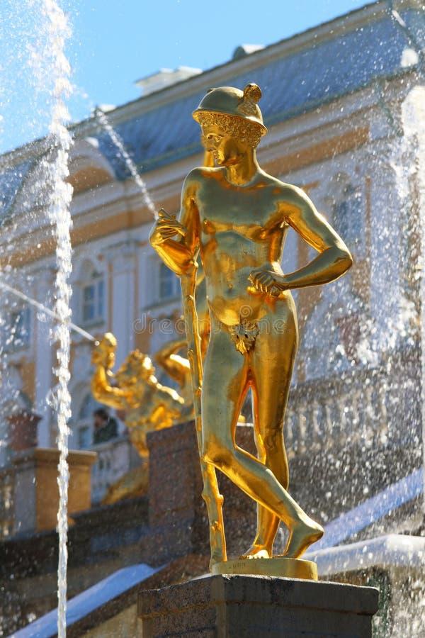 Skulpturen av den mytologiska guden av nollan för handelkvicksilverKapitolium fotografering för bildbyråer