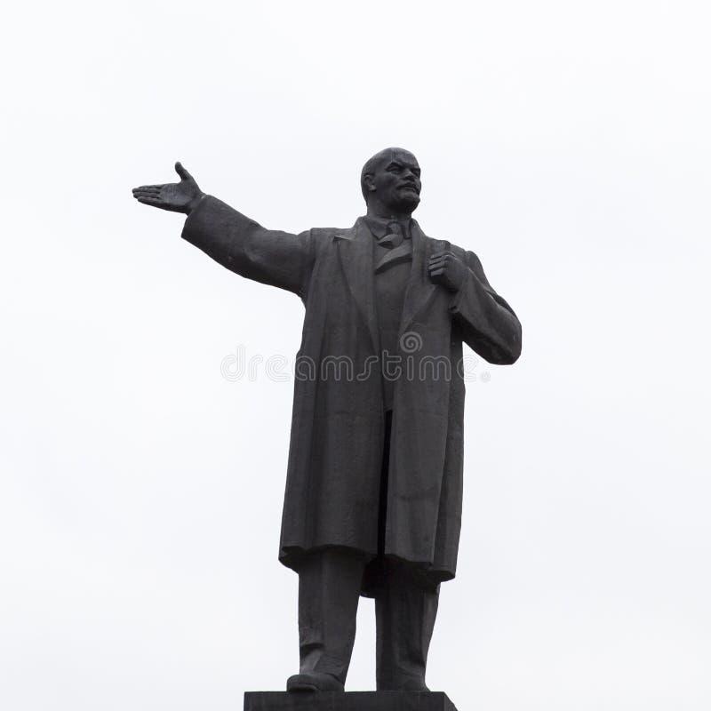 Skulpturen av lenin i Nizhny Novgorod, ryssfederation arkivbild