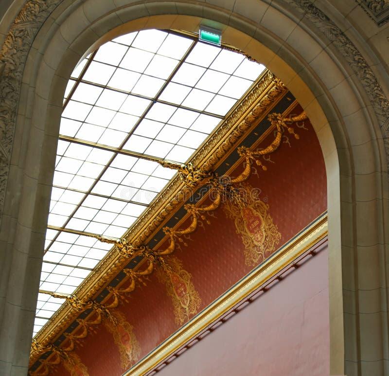 Skulpturen i det le luftventil museet, paris, Frankrike arkivbild