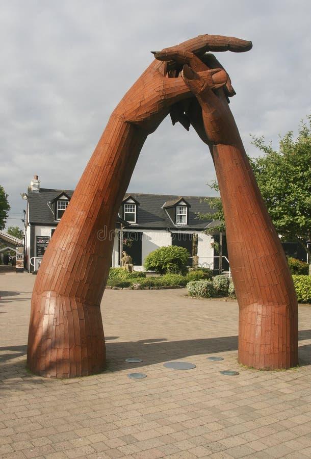 Skulpturen i Gretna gräsplan, Skottland royaltyfria bilder
