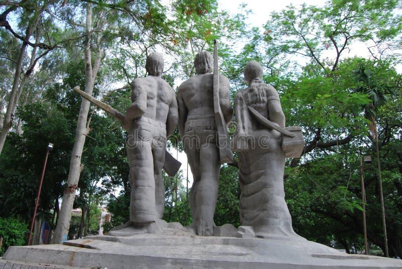Skulpturen sind ein unentbehrliches Teil bangladeschische Kultur gewesen stockfotos